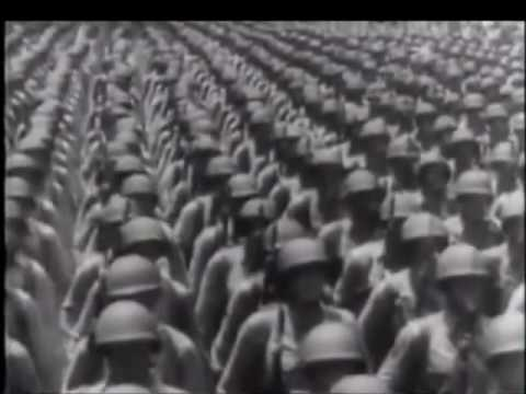 The United States Military march in WW2