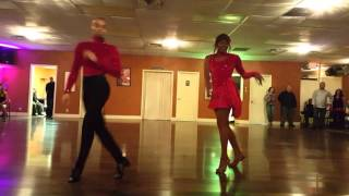 2016 0415 UV Latin Dance Team Salsa Performance, Bachata Ultimate social at Sultry Swing