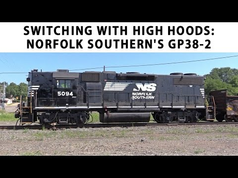 Switching with Norfolk Southern High Hood GP38-2s