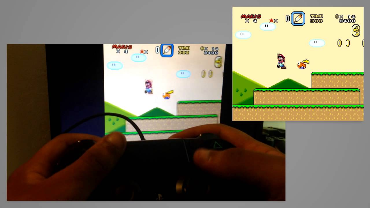 Playing SNES Emulator with PS4 Controller