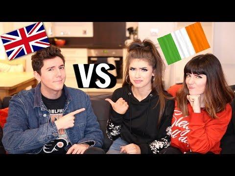 IRISH SLANG VS BRITISH SLANG! | Jessie B, Melanie Murphy & MyNamesChai