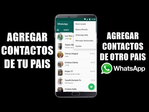 COMO AGREGAR CONTACTOS A WHATSAPP 2019 // Plus Android