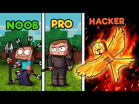 Minecraft - NOOB vs PRO vs HACKER - HUNGER GAMES in minecraft! thumbnail