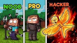 Minecraft - NOOB vs PRO vs HACKER - HUNGER GAMES in minecraft!
