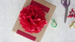 DIY Gift Topper: Tissue Paper Flowers
