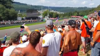 fans view f1 spa 2016 kemmel straight start crash max vs kimi vs vettel