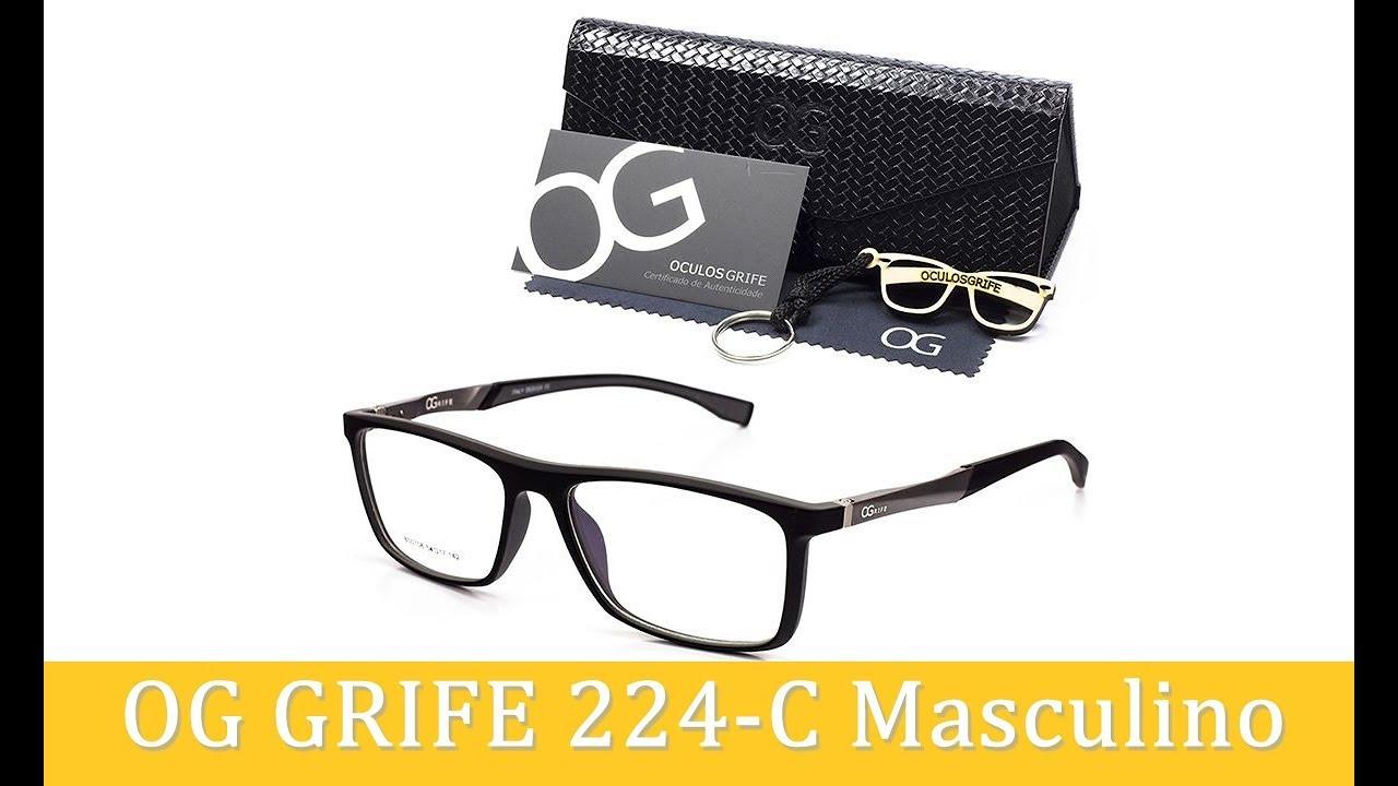758110140 Unbox Armação de Óculos OG Grife 224-C Masculino - YouTube