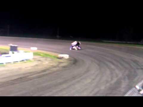 Donny Schatz testing at Red River Valley Speedway