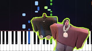 Kayne West Lil Pump - I Love It Piano Tutorial
