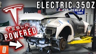 World's FIRST Tesla Swapped Liberty Walk Nissan 350Z - Part 1