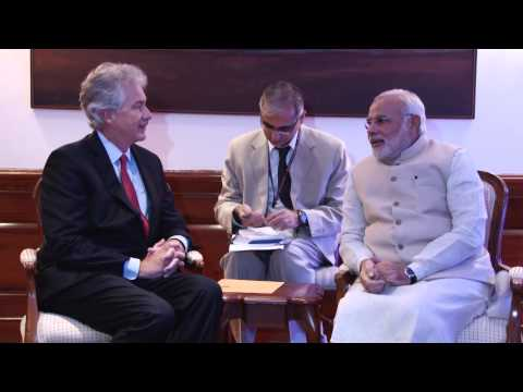 US Deputy Secretary of State William Burns meets PM Narendra Modi