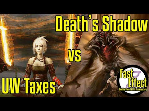 UW Taxes VS Death's Shadow | Legacy Magic: The Gathering W/Commentary | Brainstorm MTG | Fast Effect