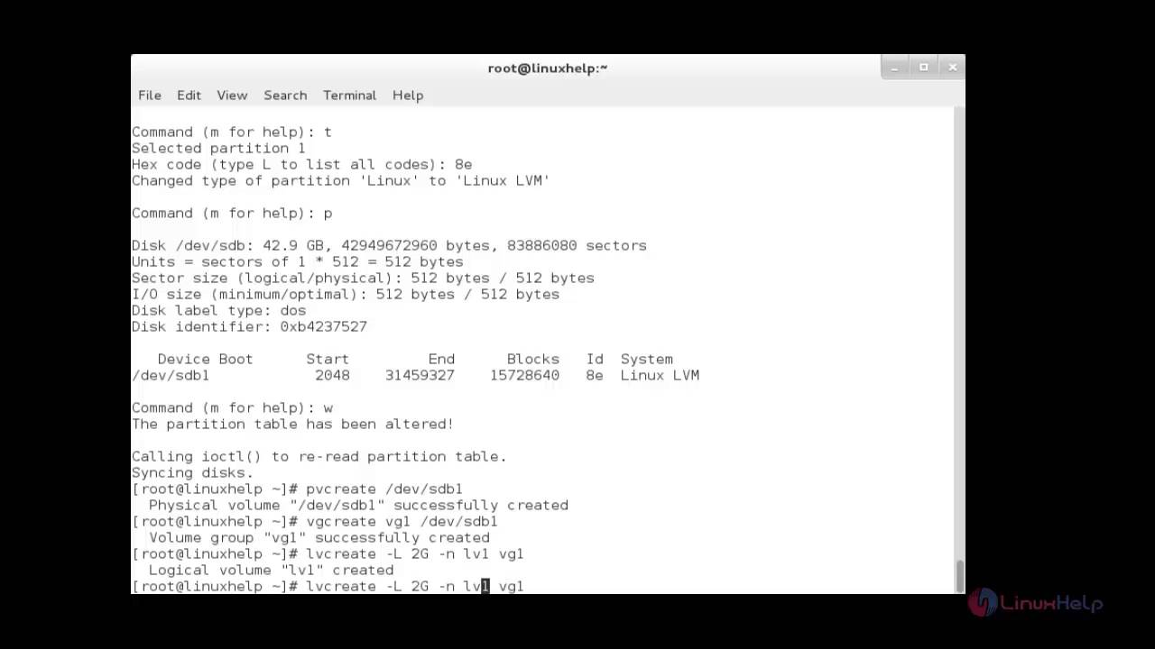 How to create and setup LUNs using LVM | LinuxHelp Tutorials