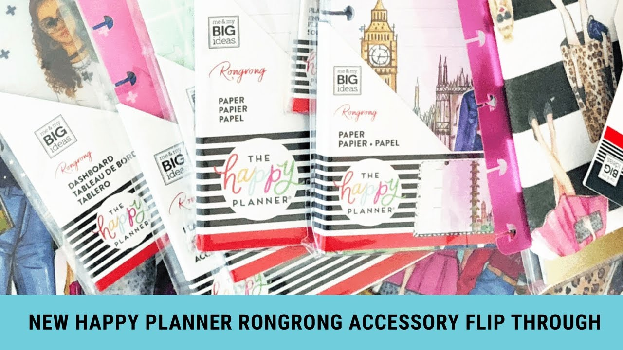 Flip Through of the new Rongrong Happy Planner Accessories