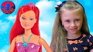 Кукла Штеффи в красивом платье - Платья для Кукол своими Руками Видео для детей