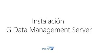 Instalación de G Data Management Server