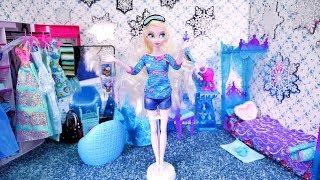 New room Elsa ❄ Bajka with dolls Barbie ❄ FROZEN Disney Princess ❄ Elsa morning routine room