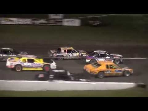 IMCA Stock Car Championship feature Benton County Speedway 9/18/16