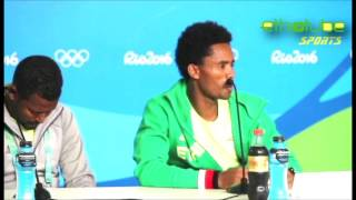 Ethiopia: Rio 2016 - Press Conference with Feyisa Lilesa after his political gesture | Aug. 21, 2016