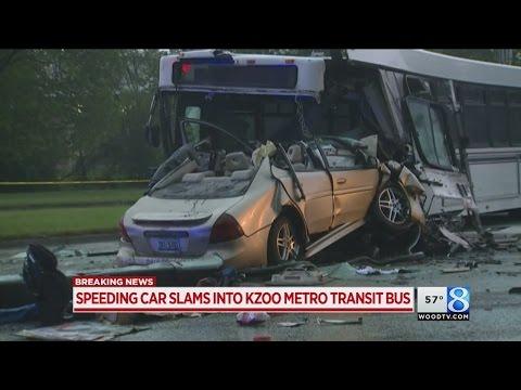 Car, bus drivers seriously hurt in Kalamazoo crash