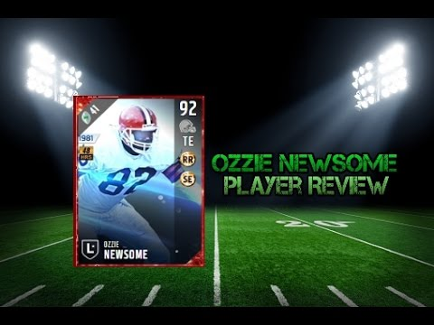 Madden NFL 17 Ultimate Team 92 Overall Ozzie Newsome Player Review