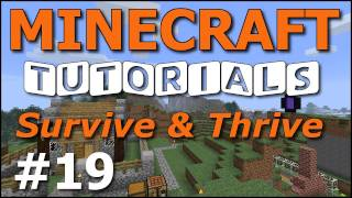 Minecraft Tutorials - E19 Compass and Map (Survive and Thrive II)