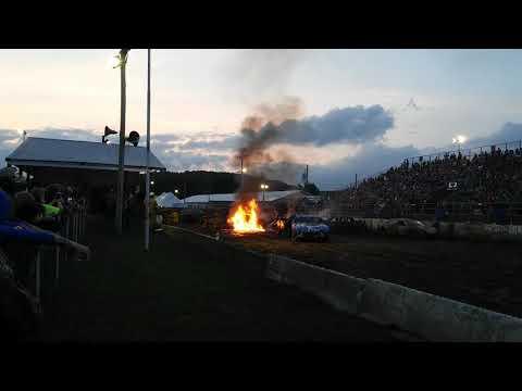 HUGE FIRE  somerset county fair 2017  conse heat