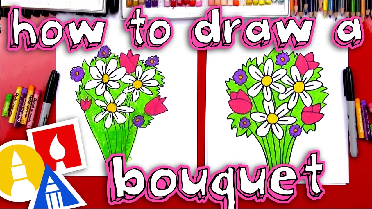 How to draw a flower bouquet youtube how to draw a flower bouquet izmirmasajfo