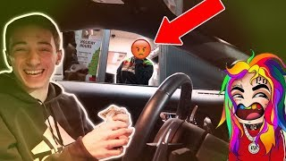 BLASTING INAPPROPRIATE SONGS IN DRIVE THRU!! *C0PS CALLED*