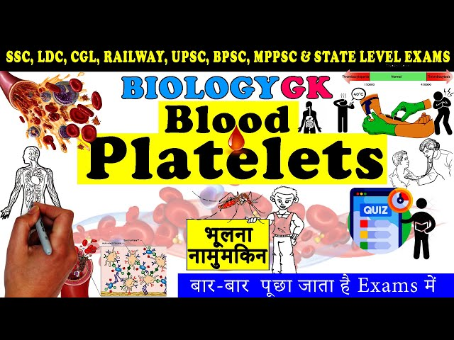 About Blood Platelets in Hindi | Thrombocytes Biology Gk | Science gk Tricks Study Corner