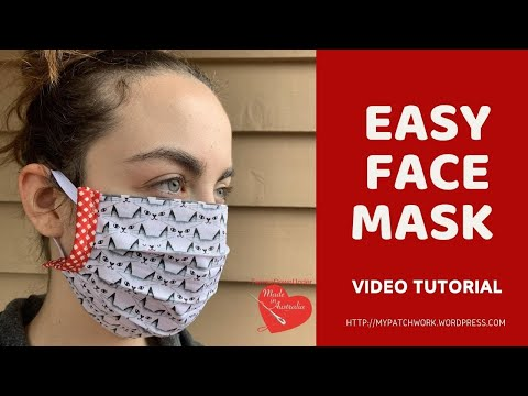 How to sew a surgical mask - video tutorial
