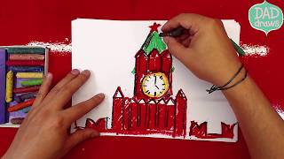 How to draw a tower of the Moscow Kremlin