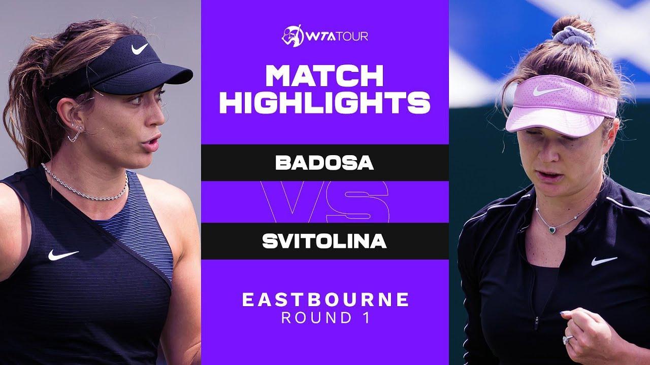 Download Paula Badosa vs. Elina Svitolina | 2021 Eastbourne Round 1 | WTA Match Highlights