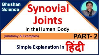 Types of joints in the human body (Synovial Joints) - in Hindi (PART-2) |Bhushan Science
