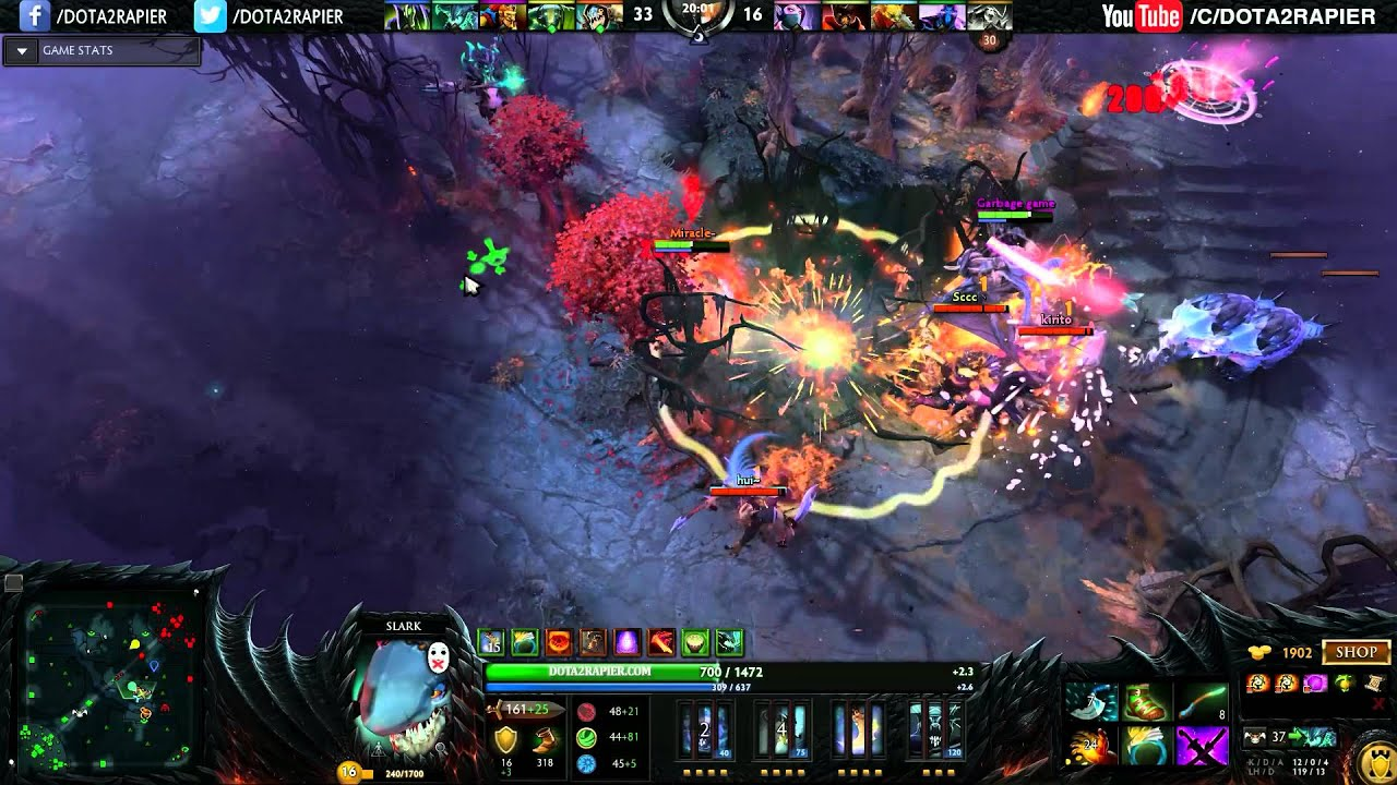 miracle dota 2 slark ranked match back to normal youtube