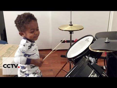 One-year-old drummer is US social media superstar