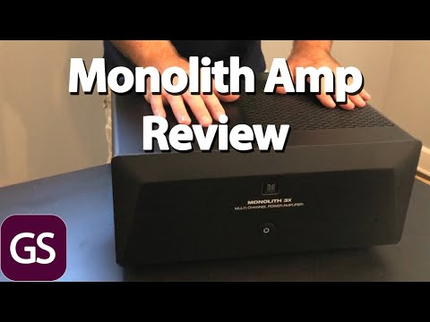 Monoprice Monolith 3x200 Amplifier Unboxing And Review With Polk LSiM707