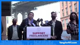 Andrew Yang Announcement in Brooklyn