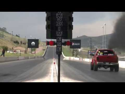 1/4 Mile Drag Race - Day 4 of Diesel Power Challenge 2014!