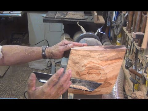Wood turning diamond shapped platter by Al Furtado