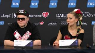 Repeat youtube video ESCKAZ in Copenhagen: Donatan & Cleo (Poland) press-conference