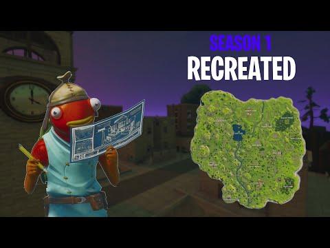 I Recreated The OG Fortnite Map In Creative... (AMAZING)