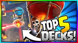 TOP 5 BEST BALLOON DECKS for TROPHY PUSHING!! Arena 8 to Arena 11- Clash Royale Strategy