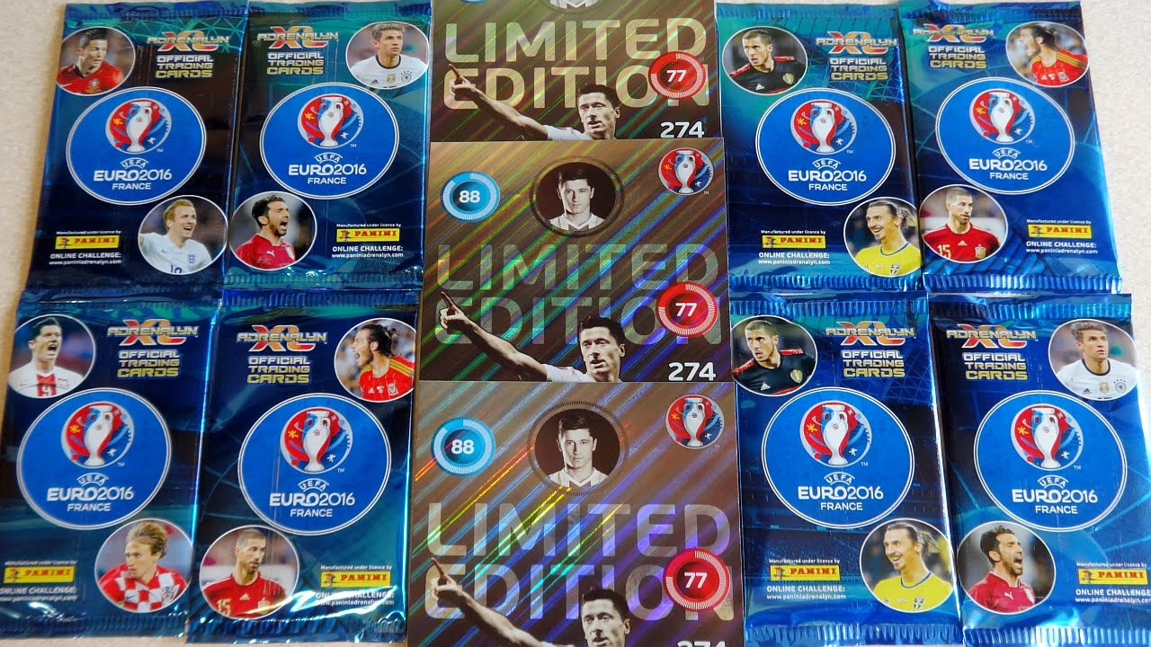 693dd5422 Part 1: UEFA EURO 2016 France Panini Adrenalyn XL Limited Edition Cards -  YouTube
