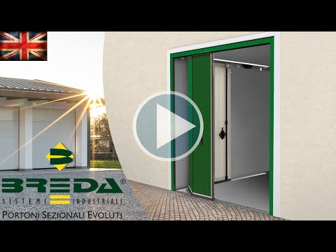 Phenix, side sectional door by Breda. The sliding is the same, but horizontal.