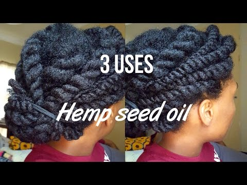 Natural Hair| 3 ways to use hemp seed oil for shine moisture growth & strength