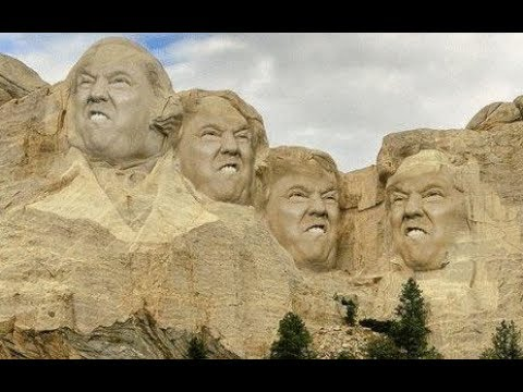 Image result for trump on mt rushmore gif