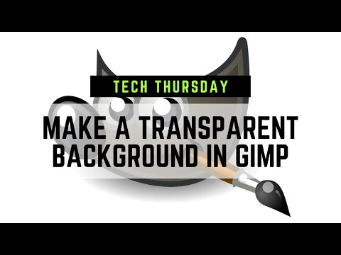 How to Make a Transparent Background for FREE! Gimp Tutorial thumbnail