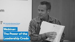 The Power of the Leadership Credo