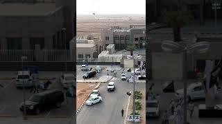 مسيرة الخيل بمحافظة شقراء بمناسبة اليوم الوطني ٨٨ (تصوير جوي محمد الطويل